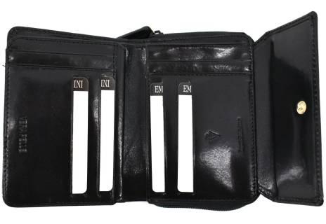 Dámská kožená peněženka Emporio Valentini - černá