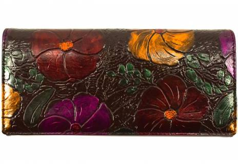 Dámská peněženka s květovaným vzorem