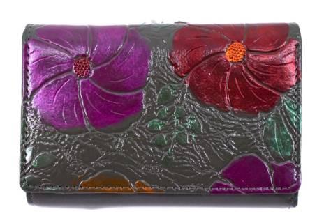 Dámská / dívčí malá peněženka s květovaným vzorem