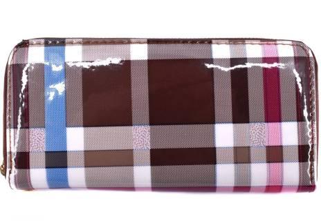 Dámská / dívčí peněženka pouzdrového typu károvaná