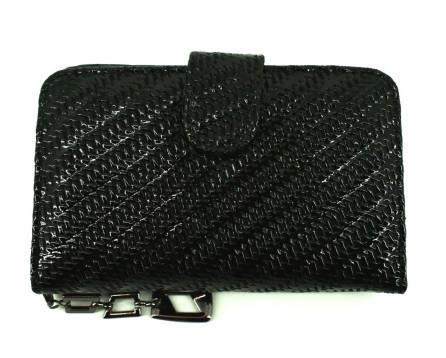 Dámská / dívčí lakovaná  peněženka - černá
