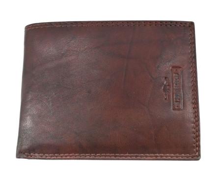 Pánská kožená peněženka na šířku Charro - tmavě hnědá