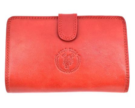Dámská kožená peněženka Harvey Miller - červená
