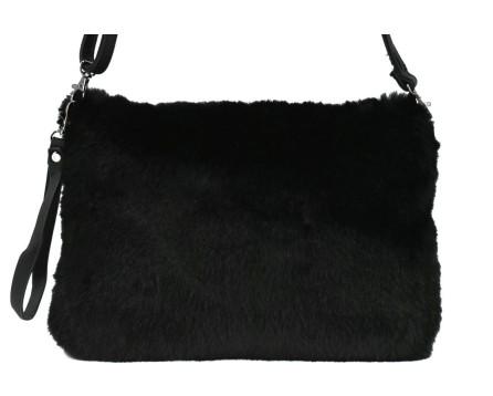 Dámská kabelka crossbody Melas / s umělé kožešiny