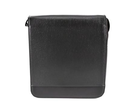 Pánská taška přes rameno s klopnou - tmavě hnědá