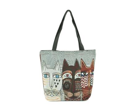 Kabelka/ nákupní taška s potiskem - kočky