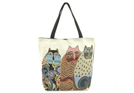 Kabelka/ taška s potiskem - kočky