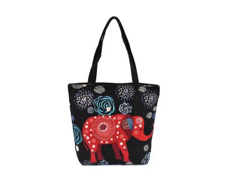 Kabelka/ nákupní taška s potiskem - slon