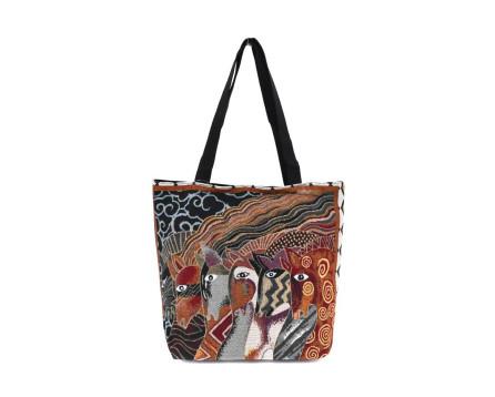 Kabelka/ nákupní taška s potiskem - koně