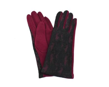 Dámské rukavice Arteddy - černá/vínová