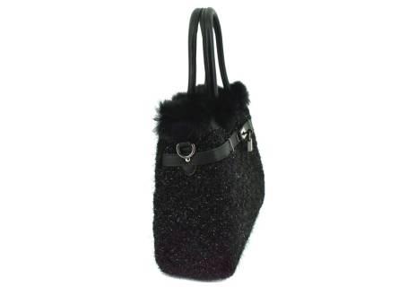 Dámská kabelka Herisson zdobená kožešinou