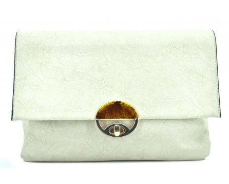 Dámská kabelka /psaníčko s klopnou - krémová