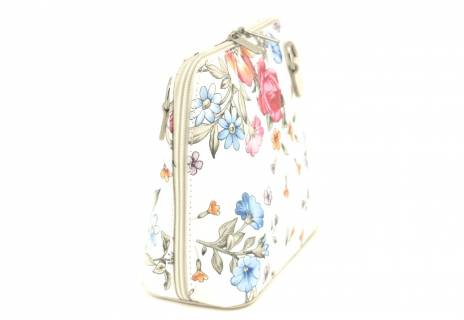 Dámská malá květovaná kožená kabelka crossbody Arteddy