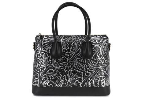 Dámská kožená kabelka s květovaným vzorem  Arteddy