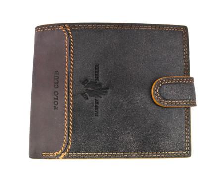 Pánská kožená peněženka na šířku  se zápinkou Harvey Miller