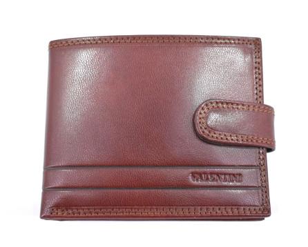 Pánská kožená peněženka na šířku  se zápinkou Valentini