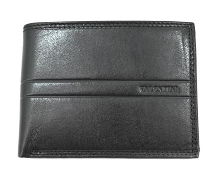 Pánská kožená peněženka na šířku Valentini - černá