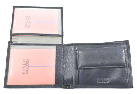 Pánská kožená peněženka  na šířku Coveri - černá