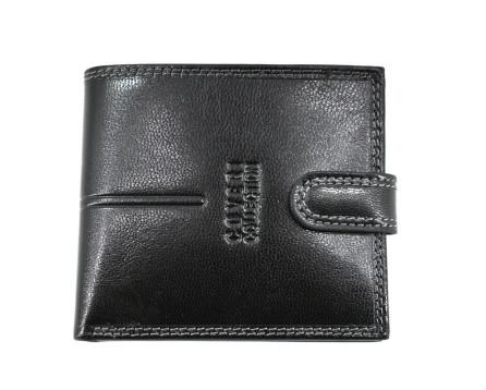 Pánská kožená peněženka  na šířku se zápinkou Coveri  - černá