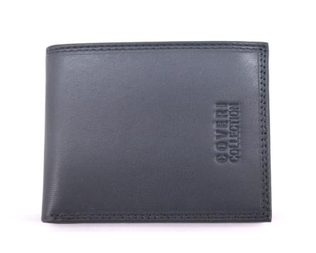 Pánská kožená peněženka  na šířku Coveri - tmavě modrá uvnitř multicolor