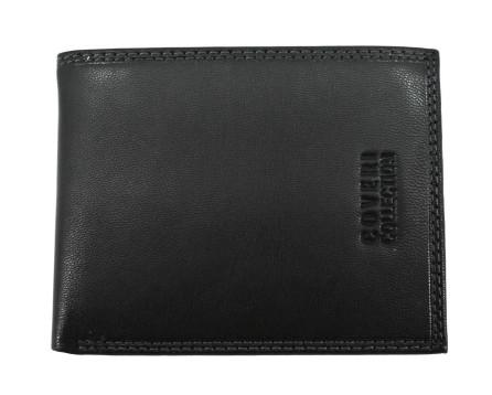 Pánská kožená peněženka  na šířku Coveri - černá uvnitř multicolor