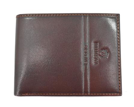 Pánská kožená peněženka Emporio Valentini - tmavě hnědá