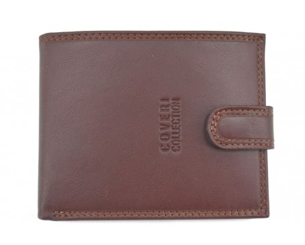 Pánská kožená peněženka  na šířku se zápinkou Coveri