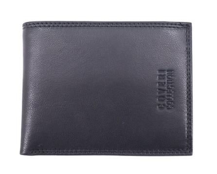 Pánská kožená peněženka  na šířku Coveri - tmavě modrá