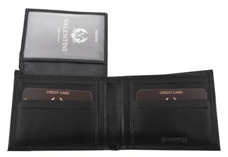 Moderní pánská kožená dokladovka Valentini - černá