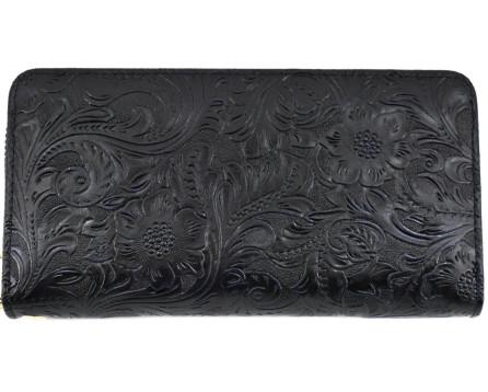 Dámská / dívčí velká peněženka  pouzdrového typu  s květovaným vzorem
