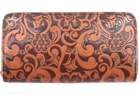 Dámská / dívčí peněženka  pouzdrového typu  s květovaným vzorem