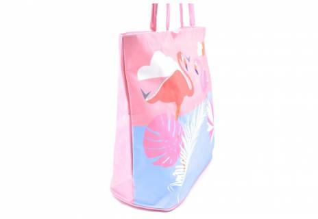 Velká plážová taška s potiskem plameňák