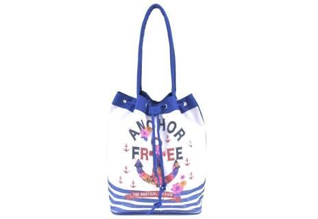 Velká plážová taška s potiskem kotva