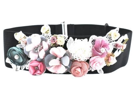 Dámský široký květovaný elastický opasek Arteddy