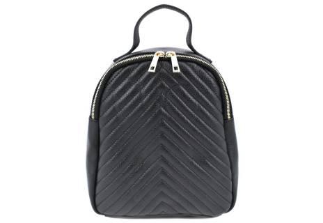 Dámský/dívčí kožený prošívaný batoh Arteddy
