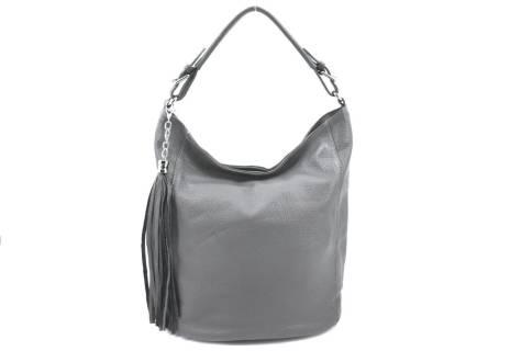 Dámská kožená kabelka s přívěskem Arteddy