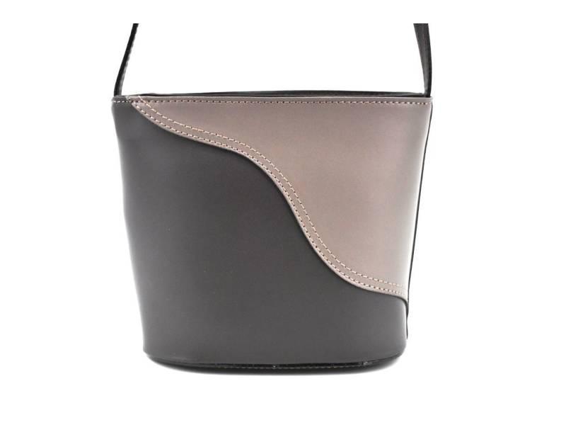 93253ec797 Dámská kožená kabelka crossbody Arteddy - tmavě hnědá taupe. novinka