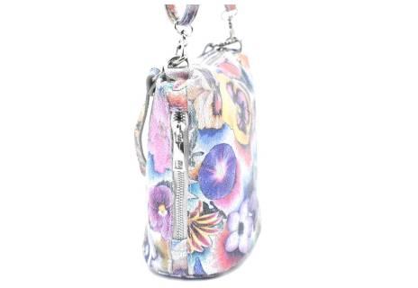 Dámská / dívčí květovaná kožená kabelka crossbody Arteddy