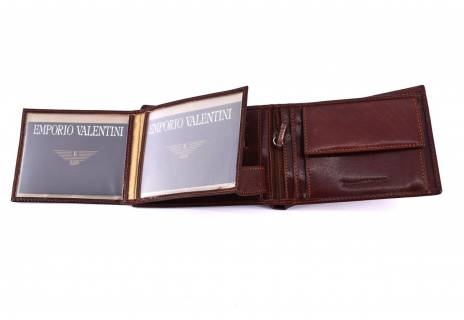 Pánská kožená peněženka Emporio Valentini - hnědá