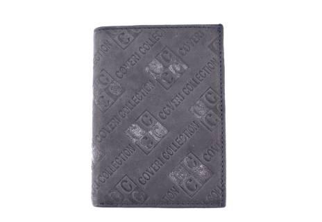 Pánská kožená peněženka Coveri World - šedá
