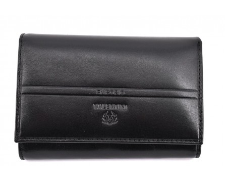 Dámská kožená peněženka Valentini - černá