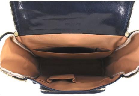 Koženy batoh s klopnou Arteddy