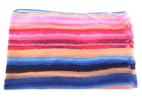 Dámský šátek s barevnými pruhy