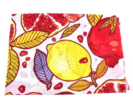 Dámský šátek s potiskem ovoce