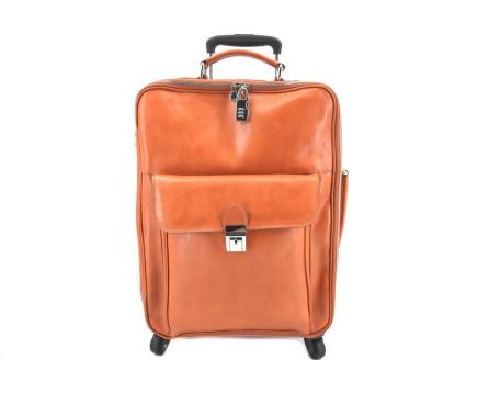 Cestovní palubní kožený kufr Arteddy
