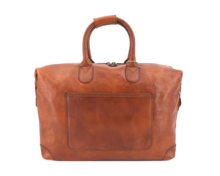 Cestovní kožena taška Arteddy - koňak