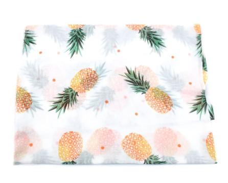 Dámský šátek s potiskem ananas