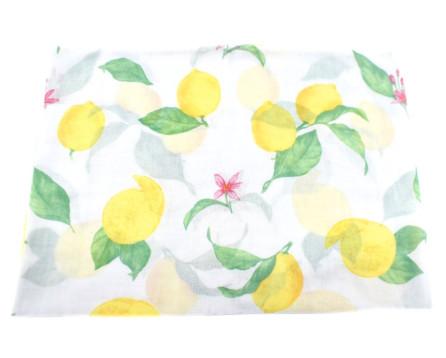 Dámský šátek s potiskem citron