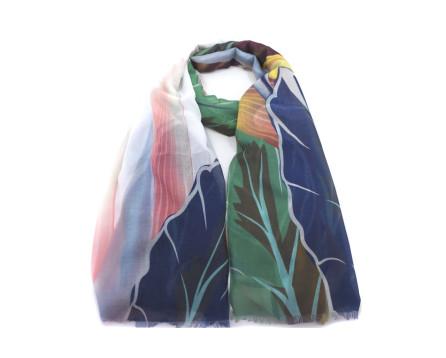 Moderní dámský šátek - modrá