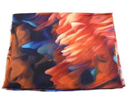 Moderní dámský šátek - oranžová